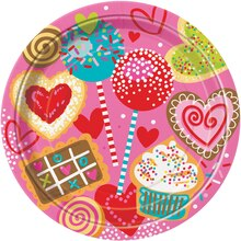 "9"" Sweet Valentine Dinner Plates, 8ct"