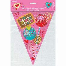 Sweet Valentine Flag Banner, 12 Ft., Package