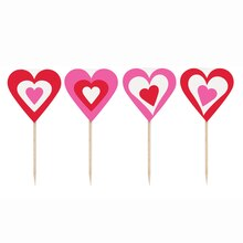 Valentine Heart Cupcake Picks, 8ct