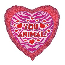 Foil You Animal Valentine Heart Balloon, 18""