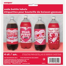 Valentine Soda Bottle Labels, 4ct