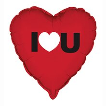 Foil I Heart You Valentine Balloon, 18""