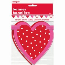 Paper Cut Out Valentine Heart Garland, 6.5 Ft., packaging