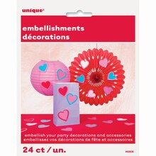 Paper Heart Embellishments, 24ct, Package