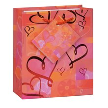 Small Glowing Hearts Valentine Gift Bag