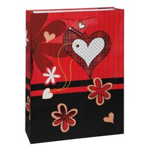 Jumbo Flower Hearts Valentine Gift Bag