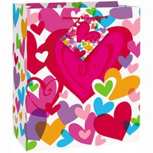 Small Flutter Hearts Valentine Gift Bag