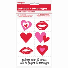 Valentine Heart Tattoos, 2ct