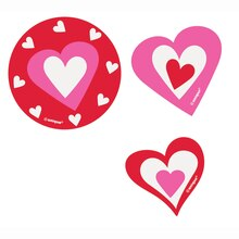 Paper Cut Out Hearts Valentine Decorations, 24ct