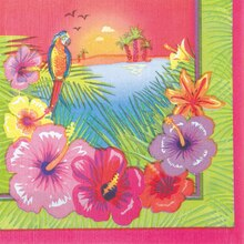 Luau Party Beverage Napkins, 16ct