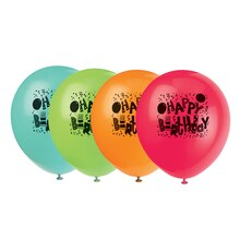 "12"" Latex Birthday Jamboree Balloons, 8ct"