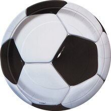 "9"" Soccer Dinner Plates, 8ct"