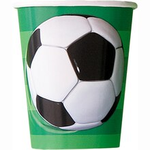 9oz Soccer Paper Cups, 8ct