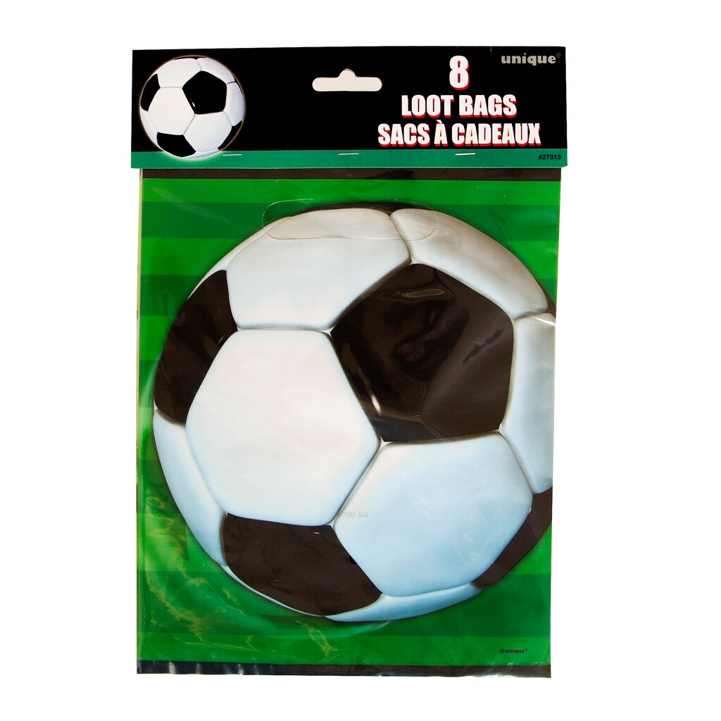 3d soccer favor bags 8ct