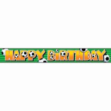 Foil Soccer Birthday Banner, 12 Ft.