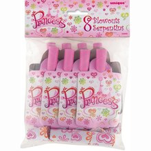 Princess Diva Party Blowers, 8ct