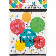 Breezy Birthday Favor Bags, 8ct