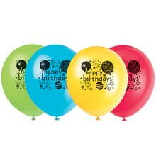 "12"" Latex Breezy Birthday Balloons, 8ct"