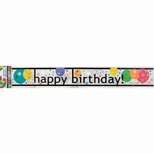 Breezy Birthday Foil Banner, 12 Ft.