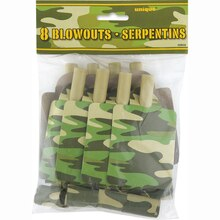 Camo Party Blowers, 8ct