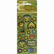 Camo Sticker Sheets, 4ct