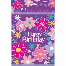 Blossom Birthday Party Favor Bags, 8ct