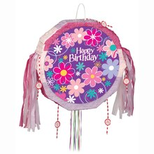 Blossom Birthday Party Piñata, Pull String
