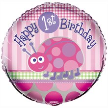 Foil Ladybug First Birthday Balloon, 18""