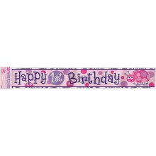 Foil Ladybug First Birthday Banner, 12 Ft.
