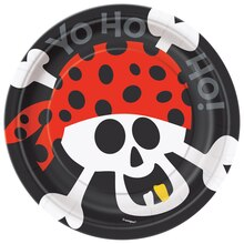 "7"" Pirate Dessert Plates, 8ct"