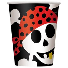 9oz Pirate Paper Cups, 8ct