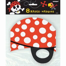 Pirate Paper Masks, 8ct