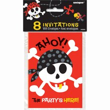Pirate Invitations, 8ct, Package