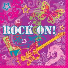 Rock On Luncheon Napkins, 16ct