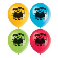 "12"" Latex Party Monsters Balloons, 8ct"