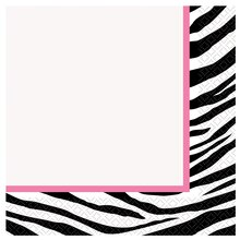 Zebra Print Luncheon Napkins, 16ct