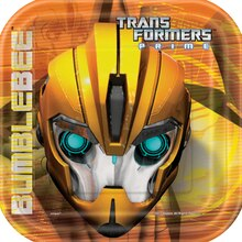 "7"" Square Transformers Dessert Plates, 8ct"
