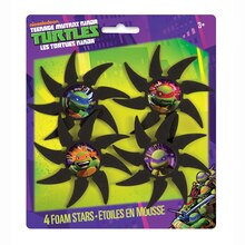 Foam Teenage Mutant Ninja Turtles Ninja Stars, 4ct