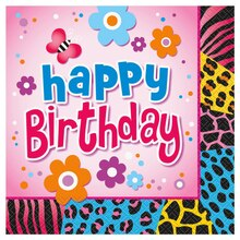Wild Birthday Party Luncheon Napkins, 16ct