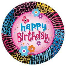 "7"" Wild Birthday Party Dessert Plates, 8ct"
