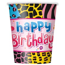 9oz Wild Birthday Party Paper Cups, 8ct