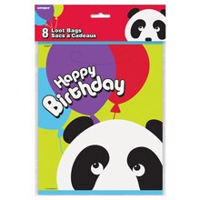 Panda Birthday Party Favor Bags, 8ct