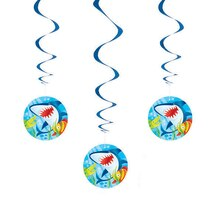 Hanging Fin Friends Decorations, 3ct