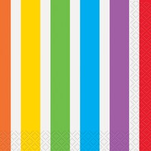 Rainbow Party Beverage Napkins, 16ct