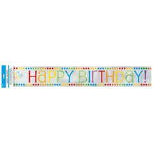 Foil Rainbow Party Birthday Banner, 12 Ft.