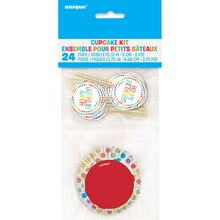 Rainbow Party Cupcake Kit for 24