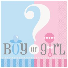 Gender Reveal Beverage Napkins, 24ct