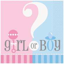 Gender Reveal Luncheon Napkins, 20ct