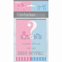 Gender Reveal Invitations, 8ct