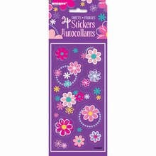 Blossom Birthday Party Sticker Sheets, 4ct